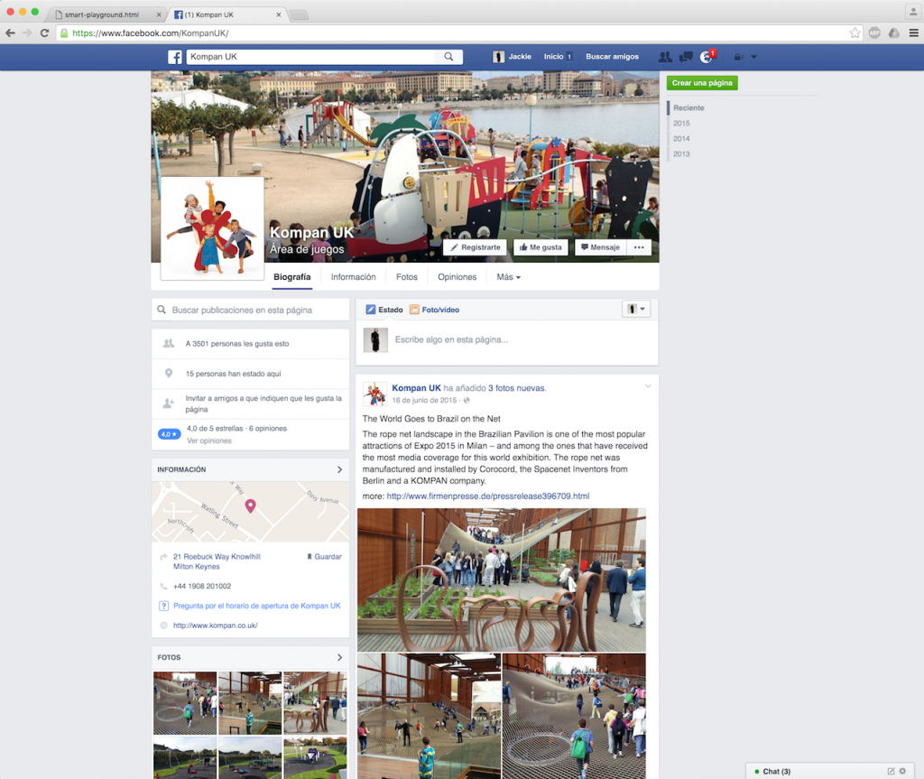 Facebook Kompan UK